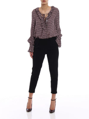 Dondup: blouses online - Printed viscose oversized blouse