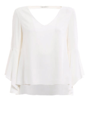 Dondup: blouses - Sylvestris silk blouse