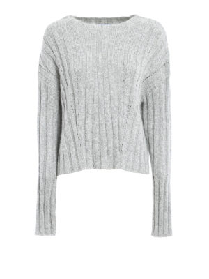 Dondup: boat necks - Lurex rib knitted sweater