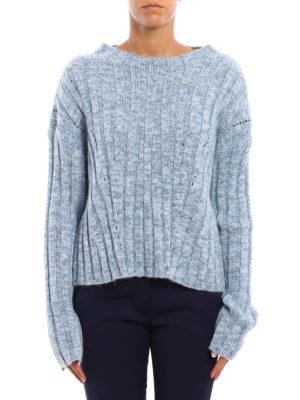 Dondup: boat necks online - Lurex rib knitted sweater