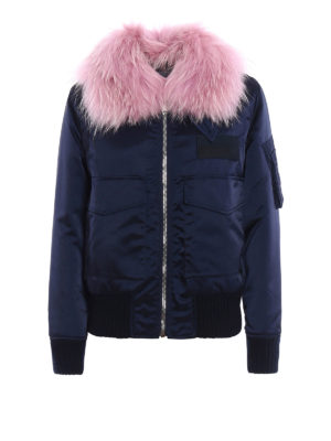 Dondup: bombers - Fur trimmed padded bomber