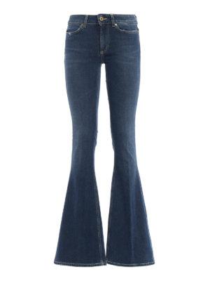 DONDUP: jeans bootcut - Jeans Akon skinny bootcut a vita alta