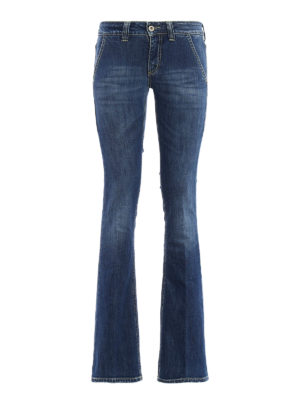 Dondup: bootcut jeans - Bianca faded jeans