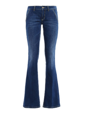 Dondup: bootcut jeans - Bianca low waist slim jeans