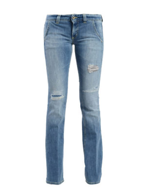 Dondup: bootcut jeans - Bianca stone washed jeans
