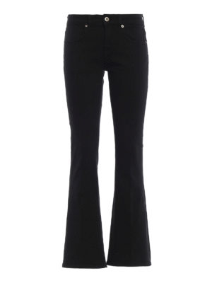 DONDUP: jeans bootcut - Jeans neri Trumpette a zampa