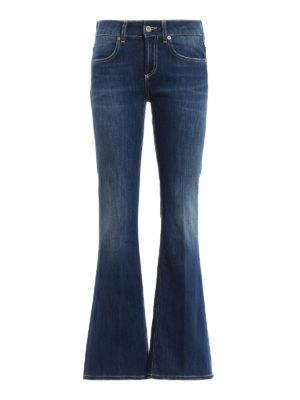 DONDUP: jeans bootcut - Jeans Trumpette lavaggio medio a zampa