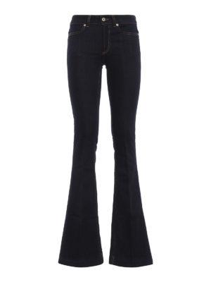 DONDUP: jeans bootcut - Jeans skinny scuri Neon a zampa