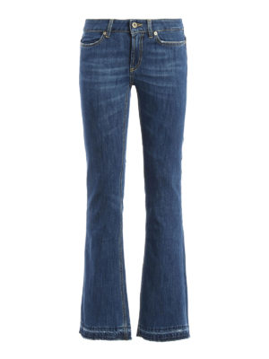 Dondup: bootcut jeans - Neon skinny fit bootcut jeans