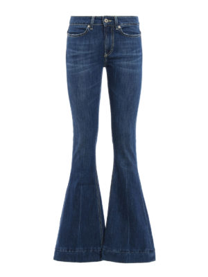 Dondup: bootcut jeans - Stretch cotton bootcut jeans