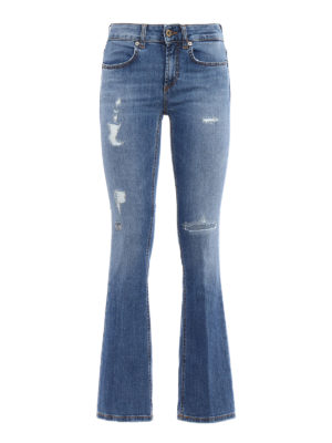 Dondup: bootcut jeans - Trumpette cropped bootcut jeans