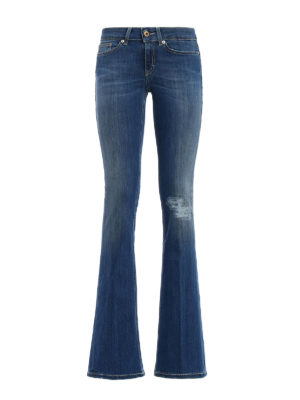 Dondup: bootcut jeans - Unite low waist skinny jeans