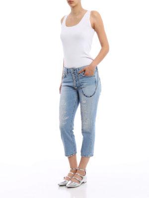 Dondup: Boyfriend online - Surie cropped jeans