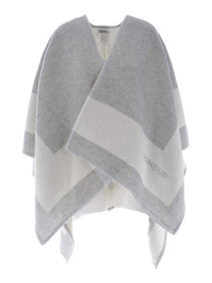 Dondup: Capes &  Ponchos - Blanket-inspired wool poncho