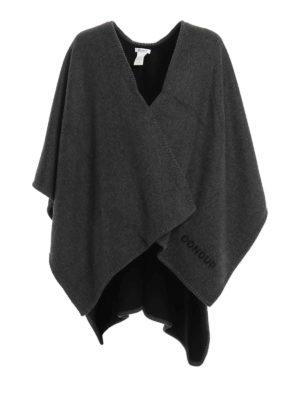 Dondup: Capes &  Ponchos - Hiamovi wool cloth cape