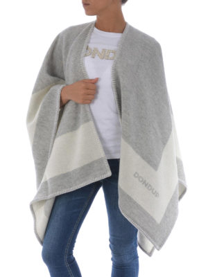 Dondup: Capes &  Ponchos online - Blanket-inspired wool poncho