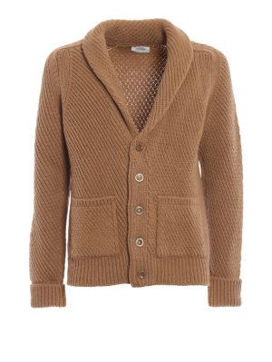 DONDUP: cardigan - Caldo cardigan in lana merino intrecciata