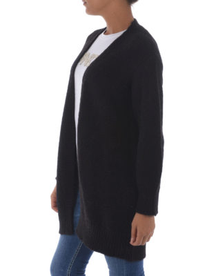 Dondup: cardigans online - Alpaca open front long cardigan