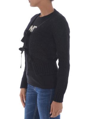 Dondup: cardigans online - Double bow closure alpaca cardigan