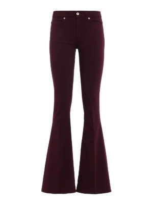 Dondup: casual trousers - Akon bootcut low rise trousers