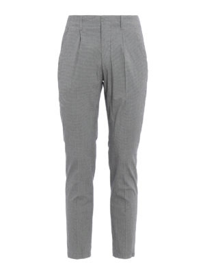 Dondup: casual trousers - Bunkerin houndstooth trousers