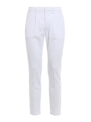 Dondup: casual trousers - Bunkerin velvet trousers