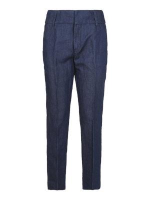 DONDUP: pantaloni casual - Pantaloni Chic in cotone misto lino