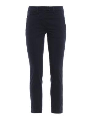 DONDUP: pantaloni casual - Pantaloni Perfectcropped blu scuro