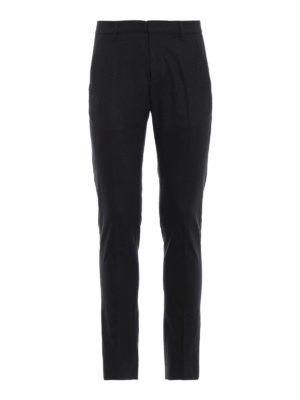 DONDUP: pantaloni casual - Pantaloni chino in lana stretch grigio scuro