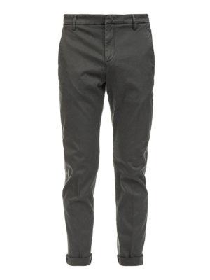 DONDUP: pantaloni casual - Pantaloni chino grigi scuri