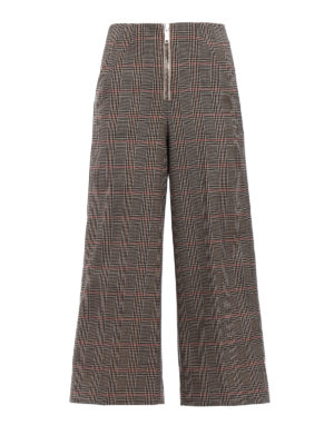 Dondup: casual trousers - Deluxe crop wide trousers