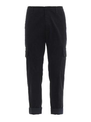DONDUP: pantaloni casual - Pantaloni cargo in panno di misto cotone