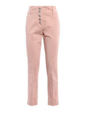 Dondup: casual trousers - Fairey cotton jewel button trousers