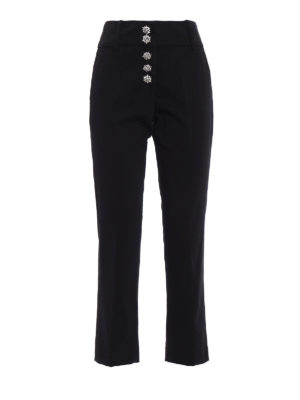 Dondup: casual trousers - Fairey jewel button cotton trousers