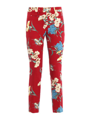 Dondup: casual trousers - Floral print trousers