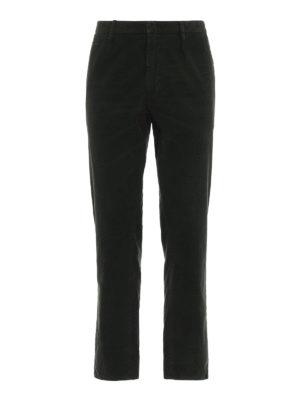 DONDUP: pantaloni casual - Pantaloni Frankie in velluto verdone