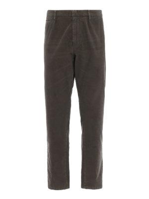 DONDUP: pantaloni casual - Pantaloni Frankie in velluto color nocciola
