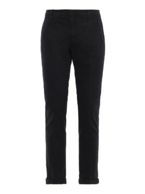 DONDUP: pantaloni casual - Pantaloni neri Gaubert in misto cotone