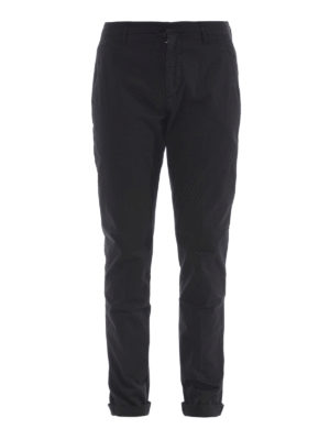Dondup: casual trousers - Gaubert black cotton trousers