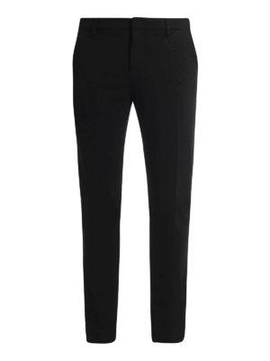 DONDUP: pantaloni casual - Pantaloni Gaubert in jersey punto stoffa nero