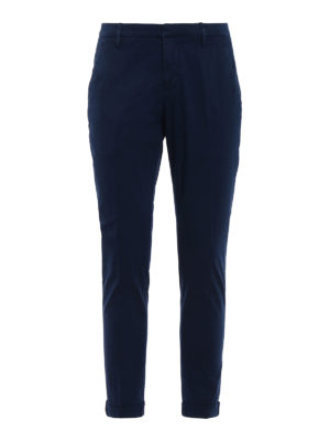 Dondup: casual trousers - Gaubert blue trousers