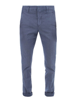 DONDUP: casual trousers - Gaubert cotton blend chino trousers