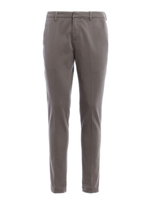 Dondup: casual trousers - Gaubert cotton drill chinos
