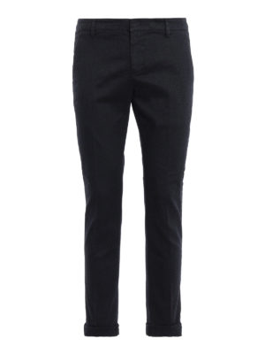 DONDUP: pantaloni casual - Pantaloni blu scuri Gaubert in misto cotone