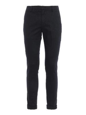 DONDUP: pantaloni casual - Pantaloni Gaubert cotone blu scuro con motivo