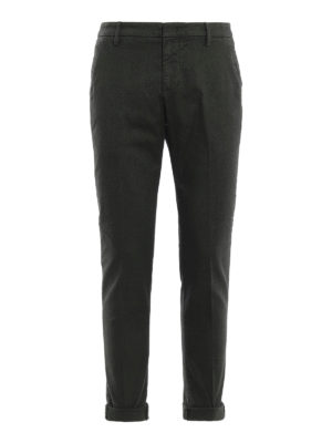 DONDUP: pantaloni casual - Pantaloni Gaubert in misto cotone verde scuro