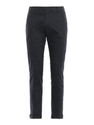 DONDUP: pantaloni casual - Pantaloni grigi scuri Gaubert in misto cotone