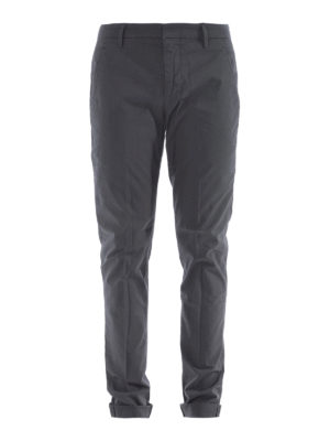 Dondup: casual trousers - Gaubert dark grey cotton trousers