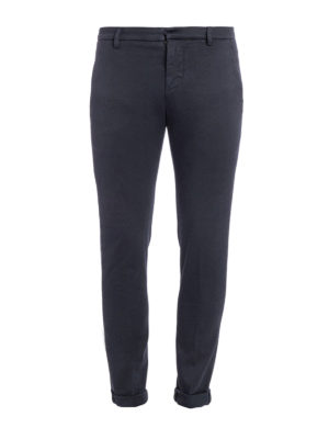 Dondup: casual trousers - Gaubert faded cotton trousers