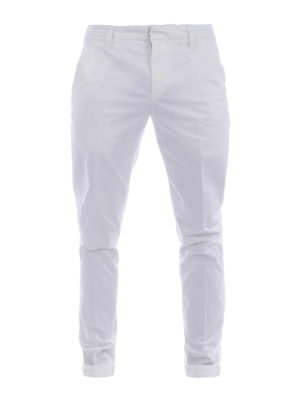 Dondup: casual trousers - Gaubert gabardine trousers